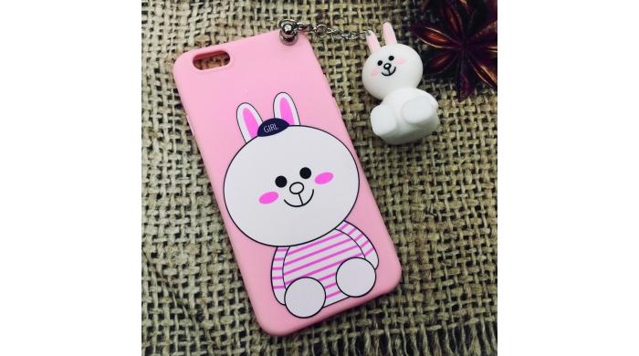 Ốp dẻo hình kèm gấu iPhone 6/6plus – 7/7plus