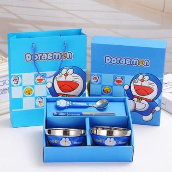 Bộ bát ăn chống nóng Doraemon đáng yêu cho bé