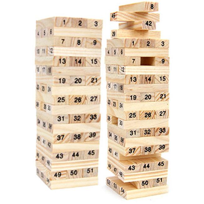 Đồ chơi rút gỗ số 54 thanh