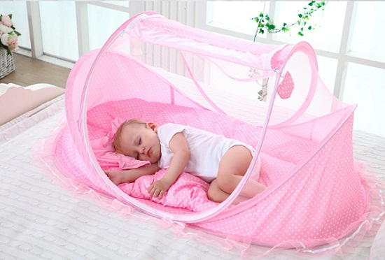 Mùng nôi di động chống muỗi có nhạc cho bé