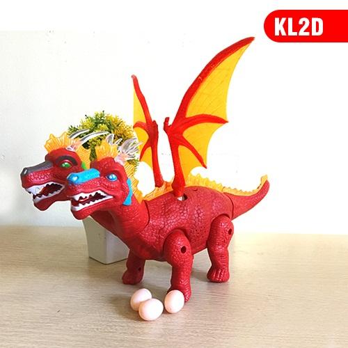 Đồ chơi khủng long Rồng có cánh 2 đầu đẻ trứng