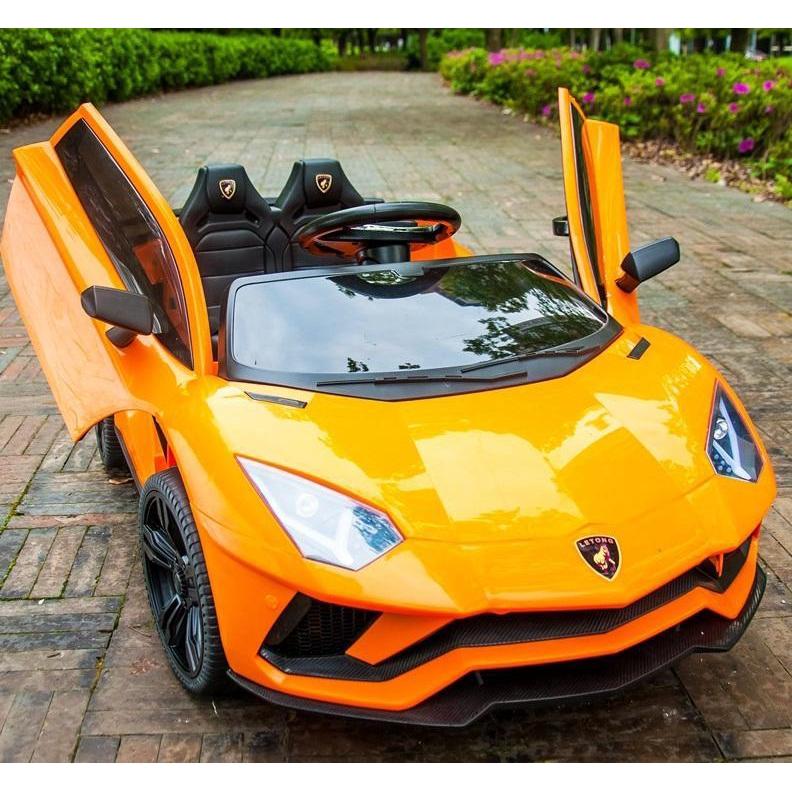 Xe ô tô điện trẻ em Lamborghini LT-998, Xe ô tô đạp ga cho bé CỠ TO 2 chỗ ngồi