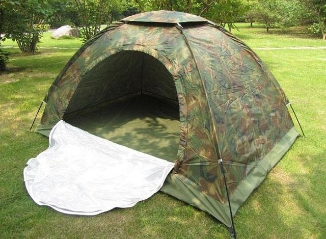 Lều trại du lịch vải dù quân đội 2 lớp chống muỗi cao cấp