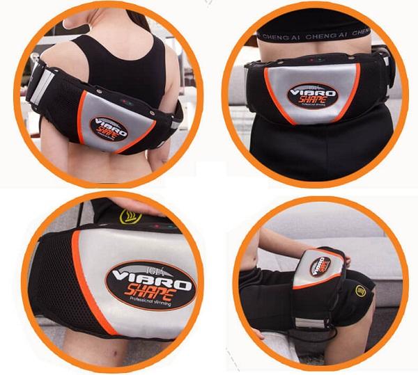 Đai massage rung nóng giảm mỡ bụng Vibro Shape thế hệ mới