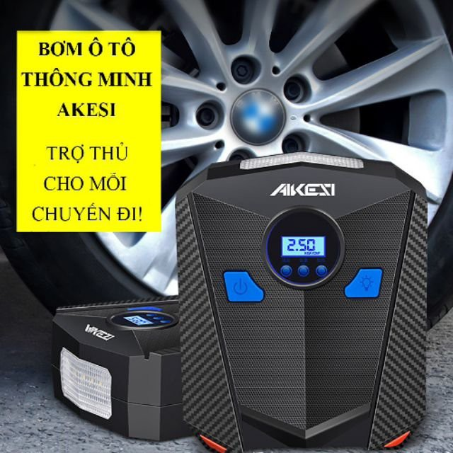 Bơm lốp ô tô, xe hơi điện tử tự ngắt AIKESI