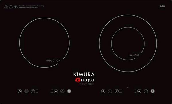 Bếp đôi điện từ và hồng ngoại Kimura Onaga KO 31