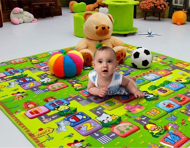 Thảm chơi 2 mặt cho bé Maboshi 1.8m x 2m