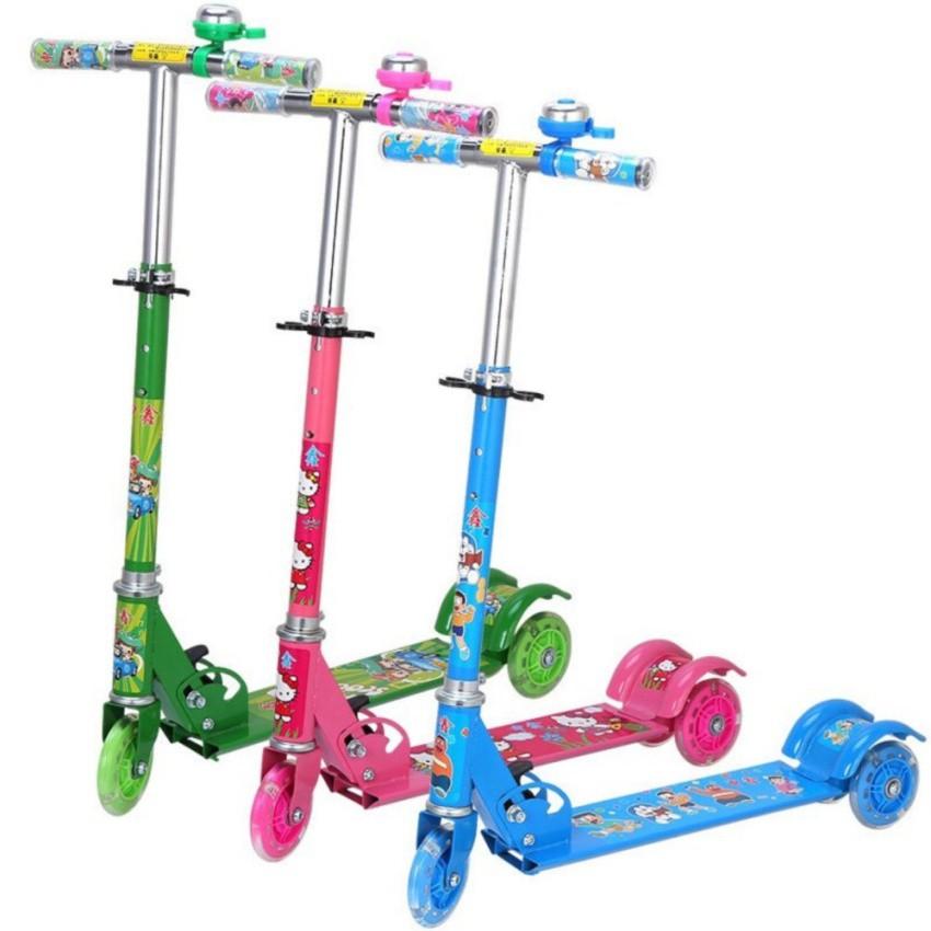 Xe trượt Scooter 3 bánh có đèn và chuông cho bé