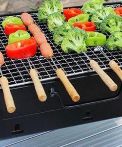 Bếp nướng than hoa vuông BBQ cao cấp dành cho gia đình 5