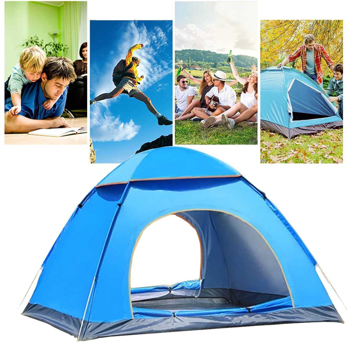 Lều trại du lịch tự bung 2 cửa 4 đến 6 người 2mx2m cao cấp